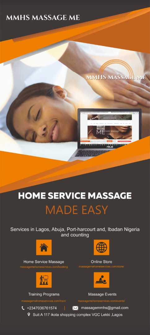 In Lagos Abuja Port-harcourt and, Ibadan Nigeria, MMHS MASSAGE Me offer discounted massage plans for every month you take up a plan for an example in the Discounted Home service monthly Massage plans